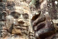 Angkor Thom Angkor Wat plats, Cambodja Arkivfoto