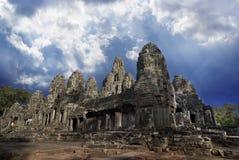 Angkor Thom, Bayon Imagens de Stock