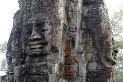 Angkor Thom Bayon tempel Royaltyfri Foto