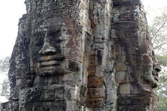 Angkor Thom, Bayon-Tempel Lizenzfreies Stockfoto