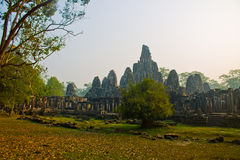 Angkor Thom - Bayon Temple. Cambodia, Siem Reap, Angkor Thom - Bayon Temple, January 22nd, 2014 Royalty Free Stock Photography