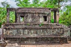 Angkor Thom Cambodia. Bayon khmer temple on Angkor Wat historica Royalty Free Stock Photography