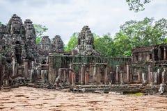 Angkor Thom Cambodia. Bayon khmer temple on Angkor Wat historica Royalty Free Stock Images