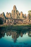 Angkor Thom Cambodia. Bayon khmer temple on Angkor Wat historica Stock Images