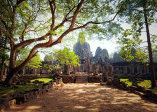 Angkor Thom Cambodia. Bayon khmer temple Royalty Free Stock Photos