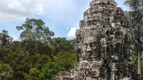 Angkor Thom Cambodia. Daylight pictures of the statue at Angkor Thom in Cambodia Royalty Free Stock Photography