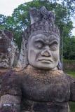 Angkor Thom Cambodia. SIEM REAP , CAMBODIA - OCT 15 : Statue at the South Gate of Angkor Thom, Siem Reap Cambodia on October 15 2017 , Angkor Thom was the last Stock Photos