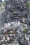 Angkor Thom Cambodia. SIEM REAP , CAMBODIA - OCT 15 : Stone face at the bayon temple in Angkor Thom, Siem Reap Cambodia on October 15 2017 , Angkor Thom was the Royalty Free Stock Photo