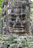 Angkor Thom Cambodia. SIEM REAP , CAMBODIA - OCT 15 : Stone face at the bayon temple in Angkor Thom, Siem Reap Cambodia on October 15 2017 , Angkor Thom was the Stock Images
