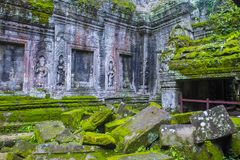 Angkor Thom Cambodia. SIEM REAP , CAMBODIA - OCT 15 :  The Ta Prohm temple in Angkor Thom, Siem Reap Cambodia on October 15 2017 , Angkor Thom was the last and Royalty Free Stock Image