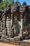 Angkor Thom (Cambodia) - Terrace of the Elephants Stock Photos