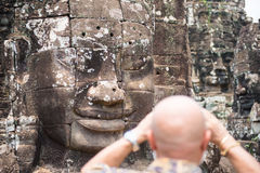 Angkor Thom Cambodja Fotografering för Bildbyråer