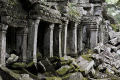 Angkor Thom columns Stock Photography
