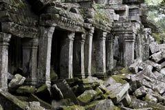 Angkor Thom columns Stock Photography
