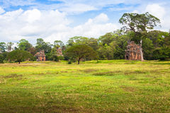 Angkor Thom gardens in front the Elephants Terrace within the An Royalty Free Stock Image