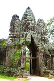 Angkor Thom gate. Royalty Free Stock Images