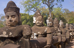Angkor Thom Gate - Cambodgia Stock Photo