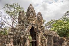 Angkor Thom gate Cambodia royalty free stock photos