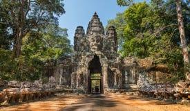 Angkor Thom Gate, Siem Reap, Kambodscha Stockbild