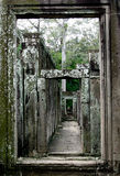 Angkor Thom hallways Stock Images