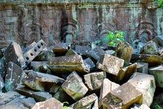 Angkor Thom in het licht van de ochtendzon Stock Afbeelding
