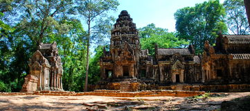 Angkor Thom in the morning sun light Stock Photography