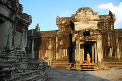 Angkor Thom in the morning sun light Royalty Free Stock Image