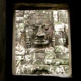 Angkor Thom's face Stock Photo
