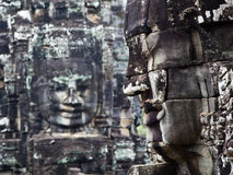 Angkor Thom's Smiling Faces Royalty Free Stock Images