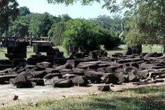 Angkor Thom , Siem Reap Cambodia Royalty Free Stock Photo