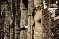 Angkor Thom - Siem Reap - Camboja - Angkor antigo Imagem de Stock Royalty Free