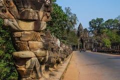 Angkor thom, siemreap, Καμπότζη Στοκ Φωτογραφίες