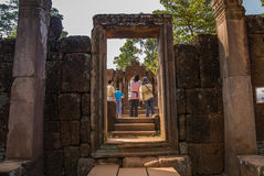 Angkor Thom, Siemreap, Cambodia. Angkor Thom located in present-day Cambodia, was the last and most enduring capital city of the Khmer empire.Angkor Thom is in Stock Photography
