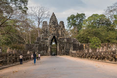 Angkor Thom, Siemreap, Cambodia. Angkor Thom located in present-day Cambodia, was the last and most enduring capital city of the Khmer empire.Angkor Thom is in Stock Photos