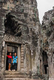 Angkor Thom, Siemreap, Cambodia. Angkor Thom located in present-day Cambodia, was the last and most enduring capital city of the Khmer empire.Angkor Thom is in Stock Image