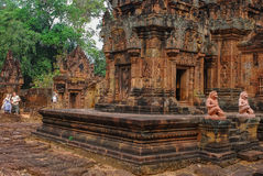 Angkor Thom, Siemreap, Cambodia. Angkor Thom located in present-day Cambodia, was the last and most enduring capital city of the Khmer empire.Angkor Thom is in Royalty Free Stock Photos