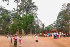 Angkor Thom, Siemreap, Cambodia. Angkor Thom located in present-day Cambodia, was the last and most enduring capital city of the Khmer empire.Angkor Thom is in Stock Images