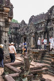 Angkor Thom, Siemreap, Cambodia. Angkor Thom located in present-day Cambodia, was the last and most enduring capital city of the Khmer empire.Angkor Thom is in Royalty Free Stock Image