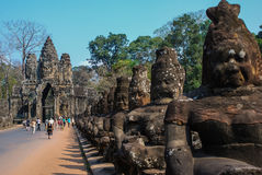 Angkor Thom, siemreap, Cambogia Fotografia Stock