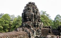 Angkor Thom with smiling buddha face at Angkor Wat Temple - Siem Reap, Cambodia Stock Photo