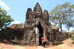 Angkor thom south gate Royalty Free Stock Images