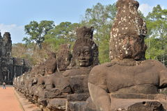 Angkor Thom South Gate Stock Photography