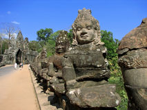 Angkor Thom South Gate Royalty Free Stock Photography