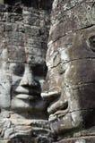 Angkor Thom Statuen Lizenzfreie Stockfotos