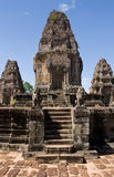 Angkor Thom Steps Portrait Stock Photos
