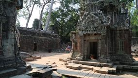 Angkor Thom temple complex, Siem Reap, Cambodia stock footage