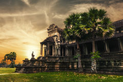Angkor Thom temple at sunset. Angkor Wat, Cambodia Stock Photography