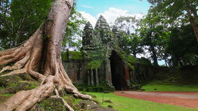 Angkor Thom temple time lapse loop Stock Photos