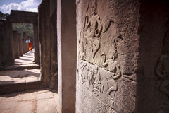Angkor Thom Temple. Angkor Thom Temple view, Siem reap, Cambodia Royalty Free Stock Photo