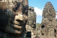 Angkor Thom: Templo de Bayon Imagen de archivo